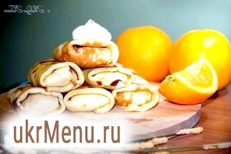 Апельсинові млинчики з сирною начинкою