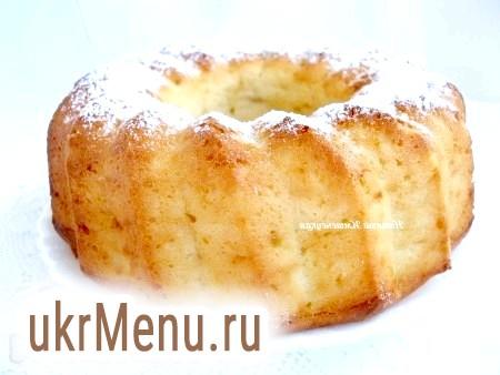Сирний кекс з персиком