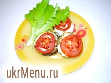 Баклажани запечені з помідорами. Проста закуска з баклажанів