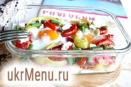 Болгарська яєчня з помідорами і сиром - мішмаш