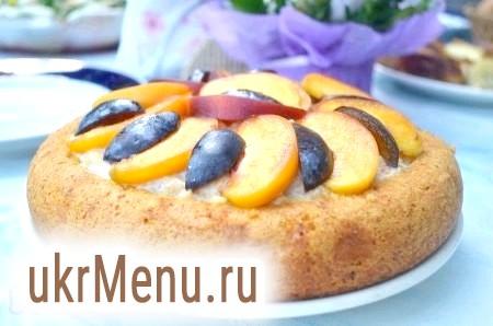 Бісквітний пиріг з кремом в мультиварці