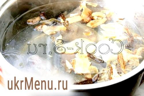 Фото - борщ з сушеними грибами