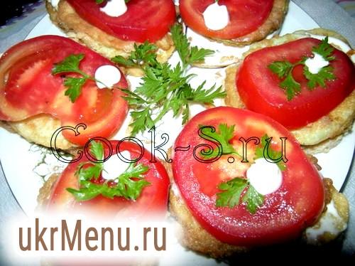 Бутерброди з кабачків з помідорами