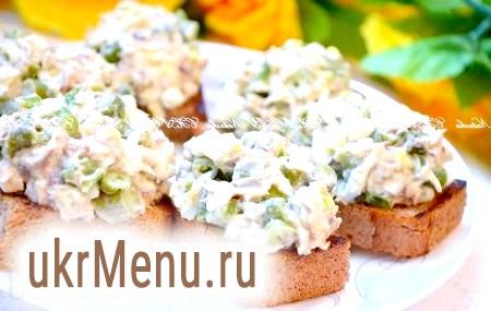 Бутерброди з рибними консервами