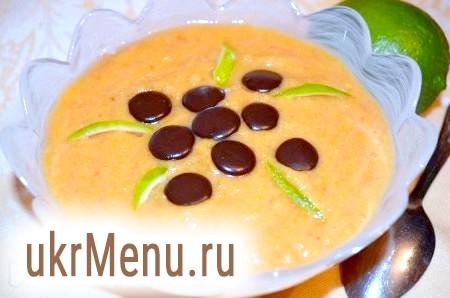 Десерт з гарбуза і банана