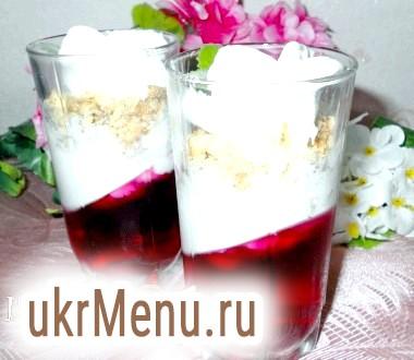 Десерт з желе і морозива