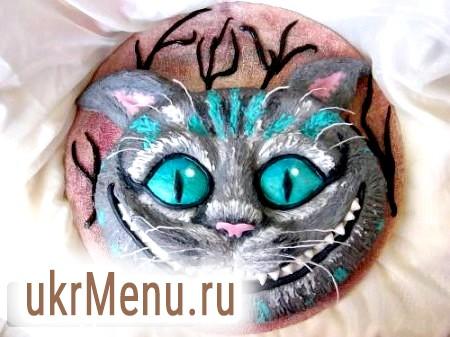 Дитячий торт з мастики «Чеширський кіт»
