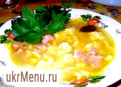 Дорогий смак з дитинства - суп з галушками