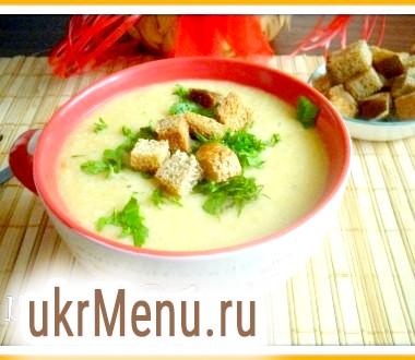 Гороховий суп-пюре з грінками