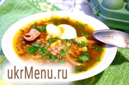 Грибний суп з сушених грибів з гречкою