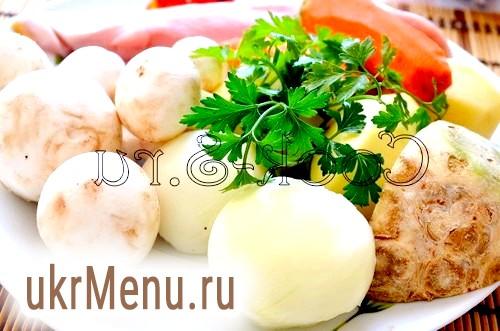 Грибний суп з селерою