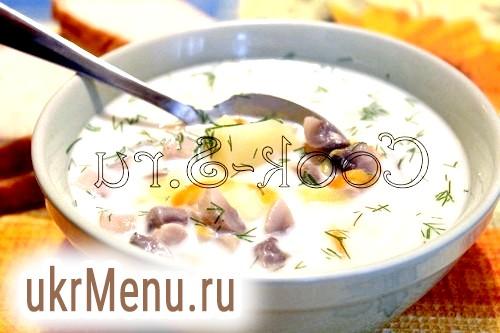 Фото - грибний суп з сиром