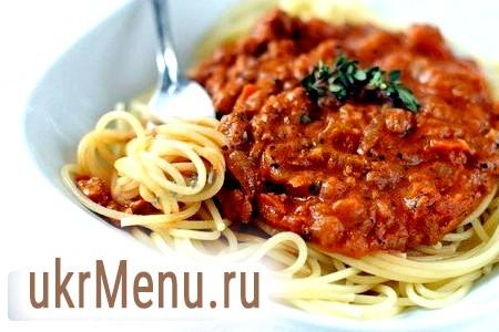 Італійський соус для спагетті на вашій кухні