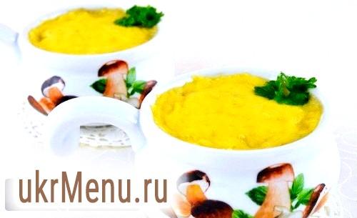 Фото - Жульєн з куркою, грибами і сирним сиром