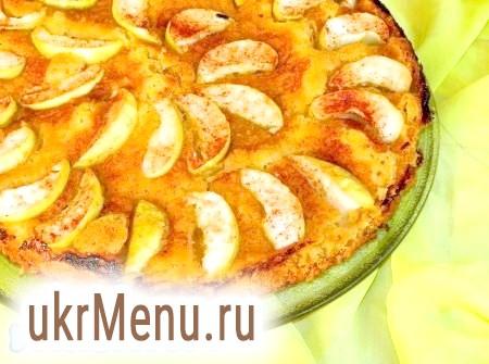 Яблучний пиріг з вівсяними пластівцями