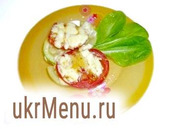 Кабачки з помідорами в духовці