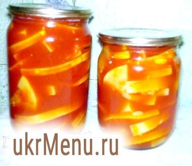 Кабачки в томатному соку