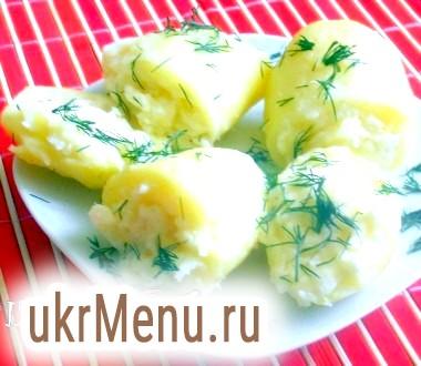 Картопля фарширована сиром