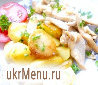 Картопля з курячим філе і соєвим соусом