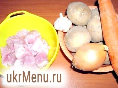 Фото - Інгредієнти для приготування картоплі зі свининою, запеченого в рукаві
