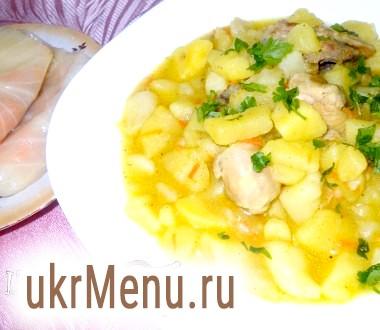 Картопля в соусі з куркою і куркумою