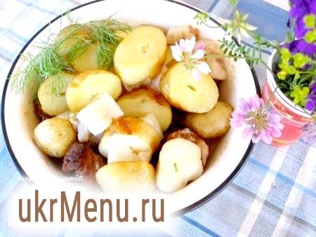 Картопля, запечена з салом