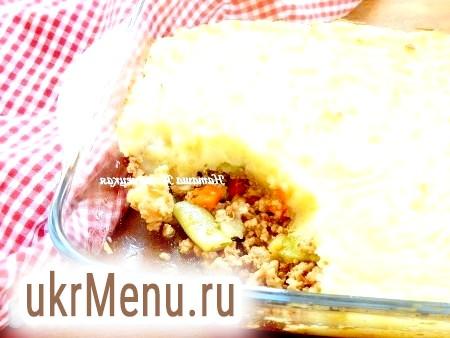 Картопляна запіканка з фаршем і овочами