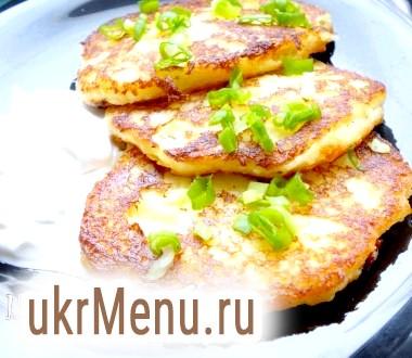 Картопляні оладки з сиром