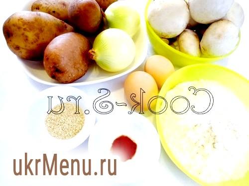 Картопляний рулет з грибами