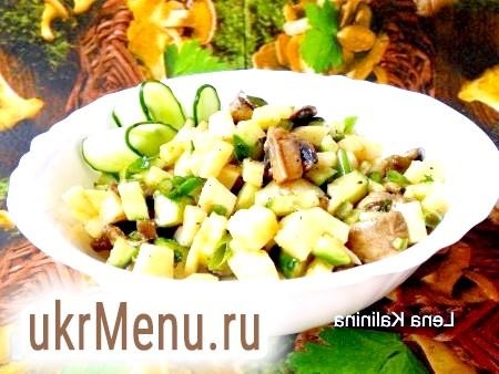 Картопляний салат з грибами