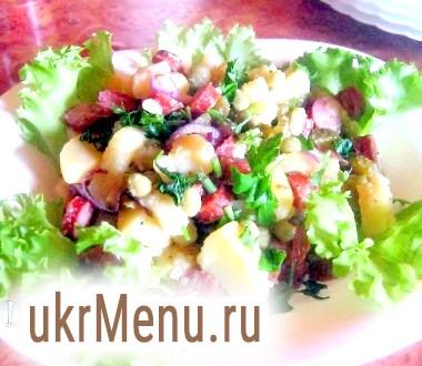 Картопляний салат з мисливськими ковбасками