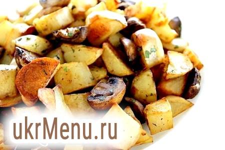 Фото - Картопля з грибами в мультиварці, рецепт з фото