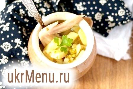 Картопля з куркою в горщиках