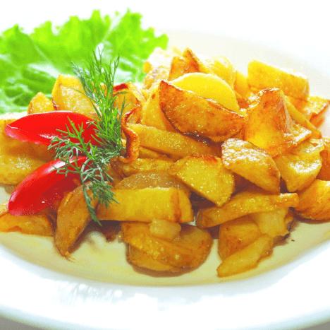 Картопля з салом по-домашньому