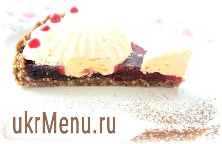 Журавлинний торт з зефіром без випічки