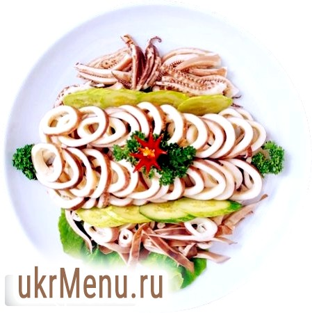 Копчений кальмар: салат для святкового столу