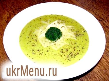 Крем-суп з брокколі з сиром