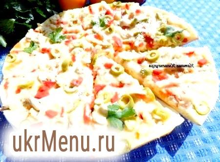 Овочева піца з кабачком