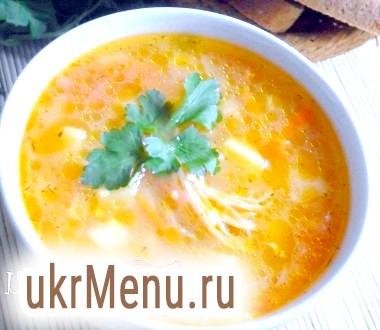 Курячий суп з кукурудзяною крупою