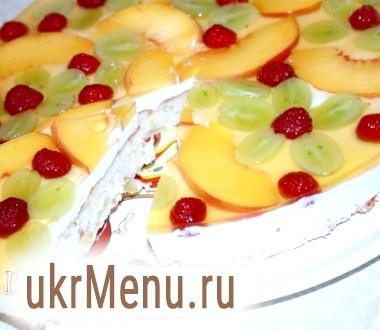 Легкий фруктовий торт