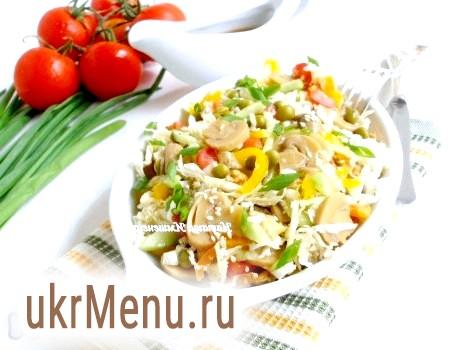 Легкий овочевий салат без майонезу