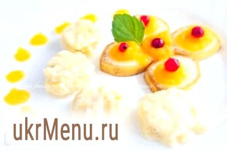 Ліниві вареники з сиром, бананом і гарбузом