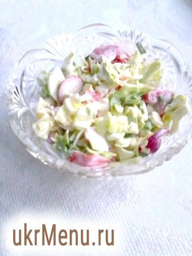 Літній овочевий салат з мацоні