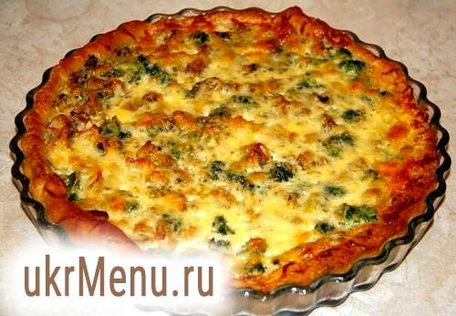 Лоранскій пиріг (пиріг з куркою, грибами і брокколі)