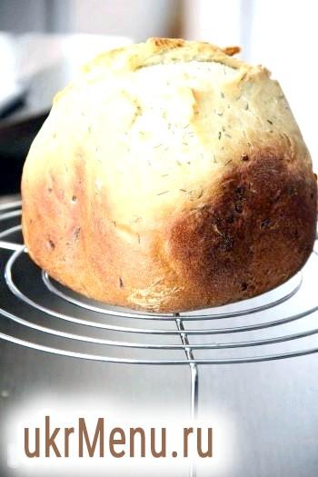 Цибулевий хліб з кропом в хлібопічці