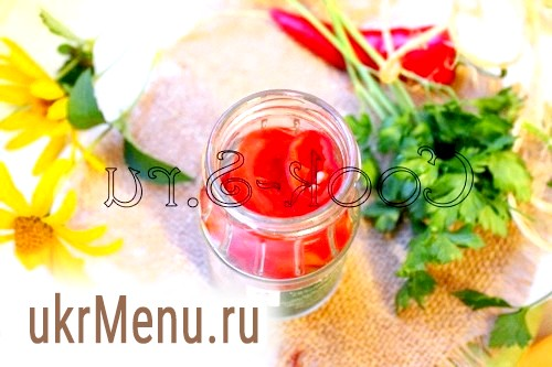 Фото - помідори з перцем на зиму