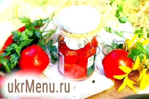 Фото - Мариновані помідори з перцем