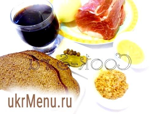 Фото - м'ясо в пиві - інгредієнти
