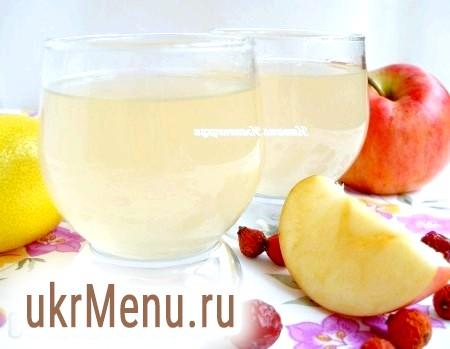 Напій з шипшини та яблук