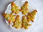 Новорічне печиво з корицею і імбиром у вигляді ялинки.